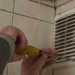 Установка вентилятора шаг 1 - снимаем старую вентиляцию