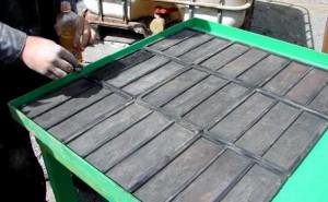 Фотография собственноручного изготовления гипсовых плиток