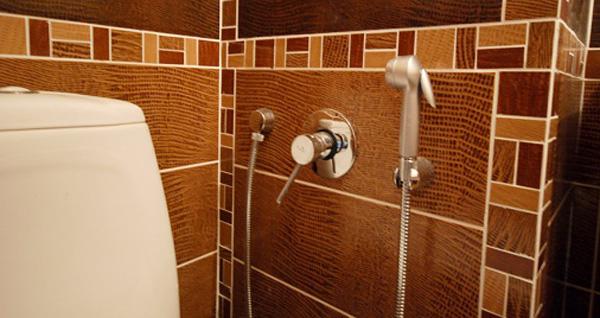 Настенный гигиенический душ в туалете
