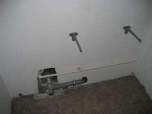 Процедура установки креплений для раковины