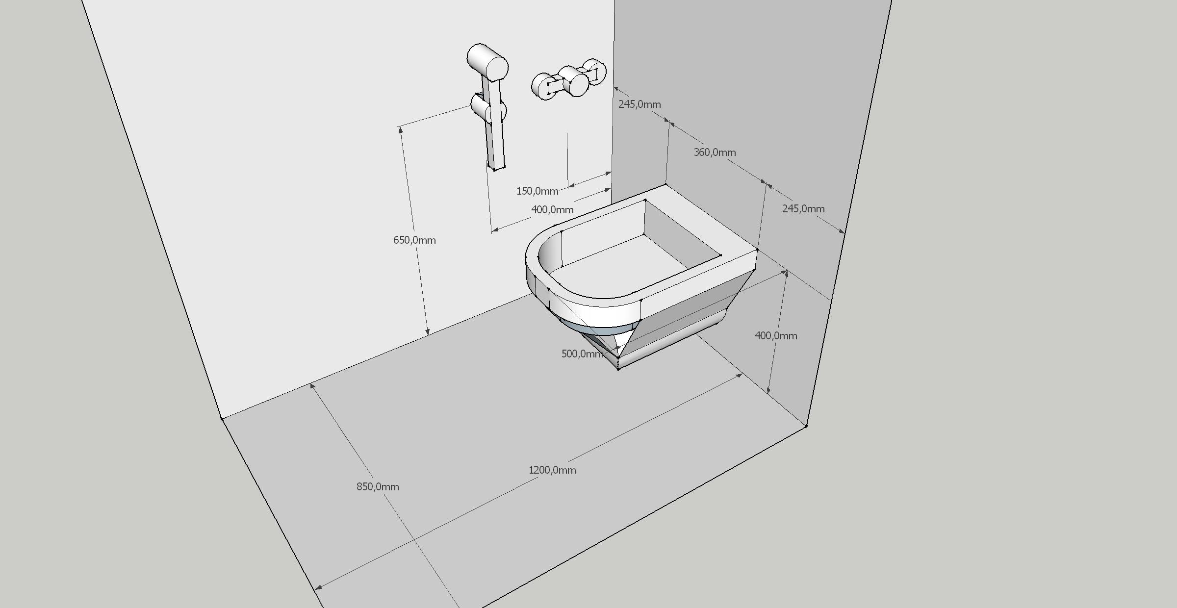 схема установки сантехники под ванную