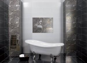 Минималистичный дизайн ванной комнаты с использованием панно