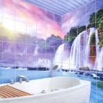 Дизайн ванной с панно 6