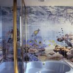 Дизайн ванной с панно 5