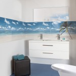 Дизайн ванной с панно 3