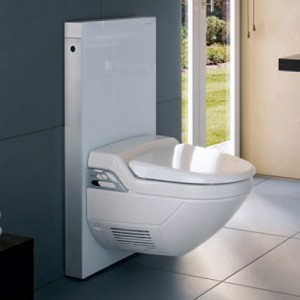 Пример дизайна туалета с использованием инсталляции для установки подвесного унитаза