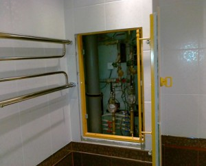 Стандартное решение по установке сантехнического шкафа в санузле