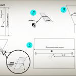 Схема разметки потолка для оклейки от центра комнаты