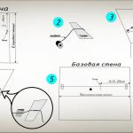 Разметка оклейки плитки, способом от центральной потолочной плитки