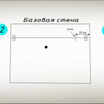 Схема разметки и оклейки потолочной плитки, начиная от угла помещения