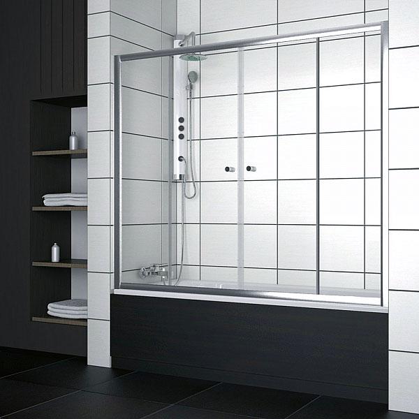 Шикарное дизайнерское решение - стеклянные дверцы для ванной