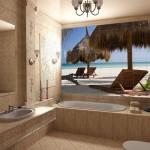 Дизайн ванной с панно 2