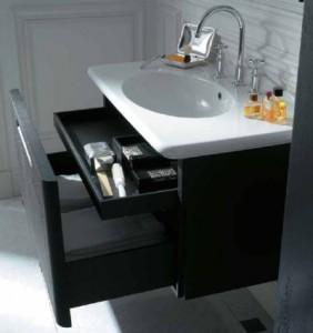 Дизайнерская коллекция шкафчиков в ванную комнату, под раковину