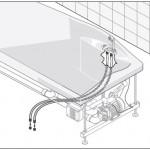 Установка джакузи шаг 1 - подключаем к водопроводу