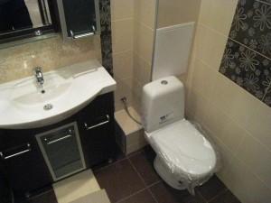 Пример готового короба в ванной комнате