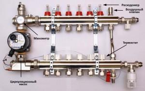 Правильная схема установки узла смесителей