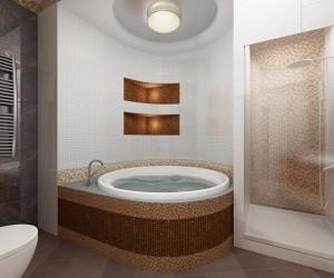 Дизайн ванной комнаты с использованием угловой ванны