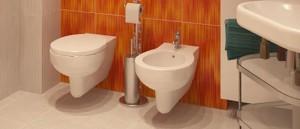 Фотография отдельно расположенного биде в ванной комнате