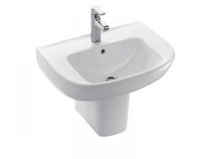 Фото раковины с полупьедесталом в форме чаши, которые, как правило, устанавливают в ванную комнату