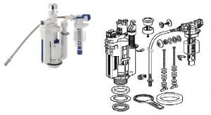 Стандартный набор частей из которых состоит сливной механизм