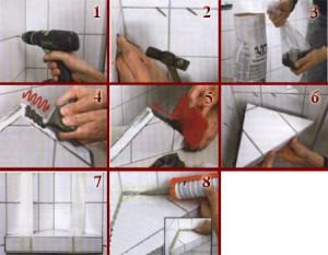 Схема из восьми шагов, как сделать полку своими руками, которую можно использовать в ванной комнате