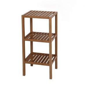 Фото трехуровневой деревянной этажерки