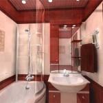 Пример готового дизайна небольшой ванной комнаты 2