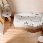 Пример готового дизайна небольшой ванной комнаты 3