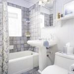 Фотография дизайна ванной комнаты маленьких размеров 6