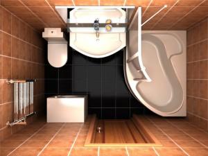 Фото дизайна ванной комнаты размером 2 на 3