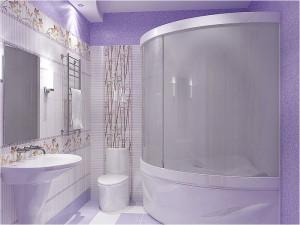 Фото интерьера ванной комнаты размеров 4 на 3