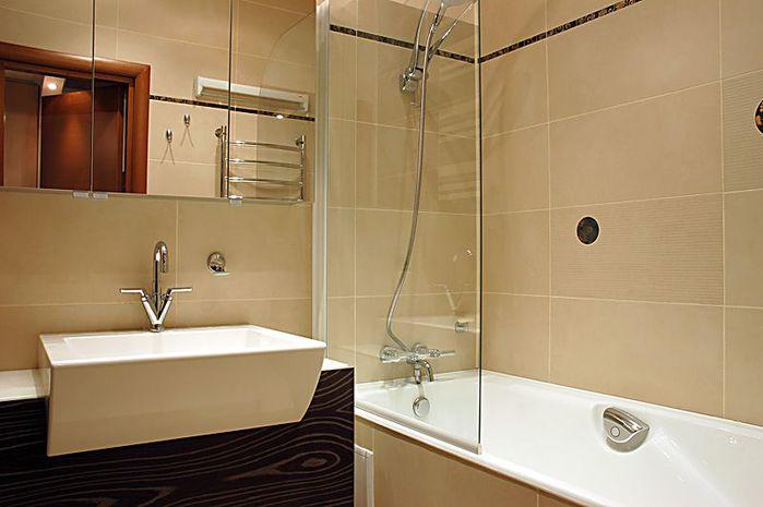 Дизайн для совмещенного туалета с ванной