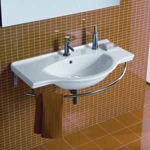 Раковина для ванной с держателем для полотенец