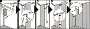 Схематичная инструкция правильного монтажа панелей