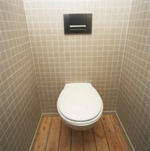 Фото, как можно сэкономить место в туалете, путем установки подвесного унитаза