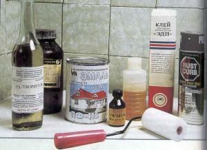 Стандартный набор инструментов для эмалировки ванны