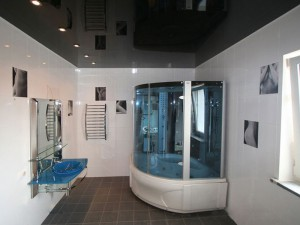 Фото дизайна потолка в санузле