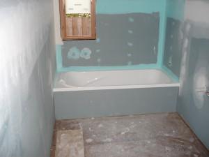 Фото отделки ванной комнаты гипсокартоном