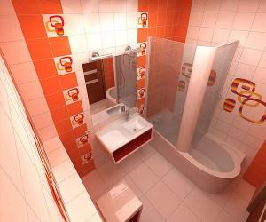 Фото планировки отремонтированной ванной комнаты в хрущевке