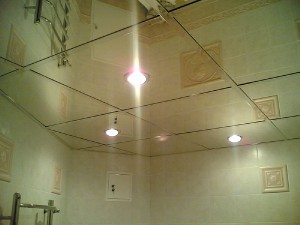 Фото подвесного потолка в ванной