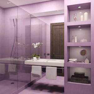 Фото ванной комнаты, стены которой были покрашены краской
