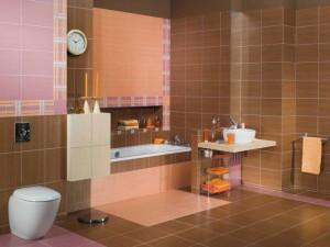 Пример использования напольной кафельной плитки в дизайне ванной комнаты