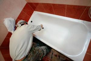 Фото процедуры эмалировки ванны