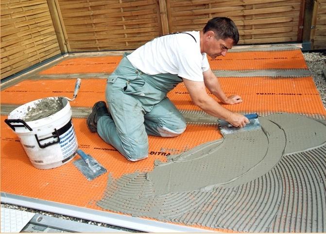 Мастикой гидроизоляция плит