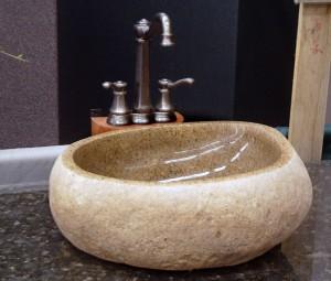 Фото дизайна раковины, изготовленной из камня