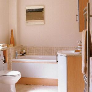 Интерьер совмещенной ванной комнаты с туалетом