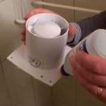 Установка шаг 1 - наносим клей на края устройства