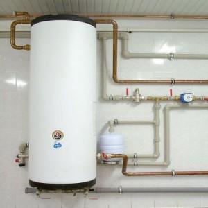 Фотография установленного бойлера косвенного нагрева