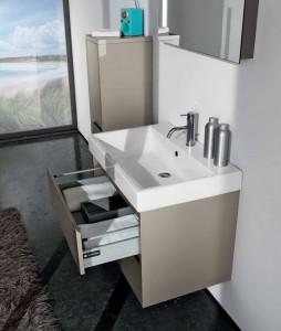Пример вместимости мебели, которая устанавливается в ванных комнатах