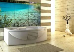 Фото использования 3д плитки в ванной комнате